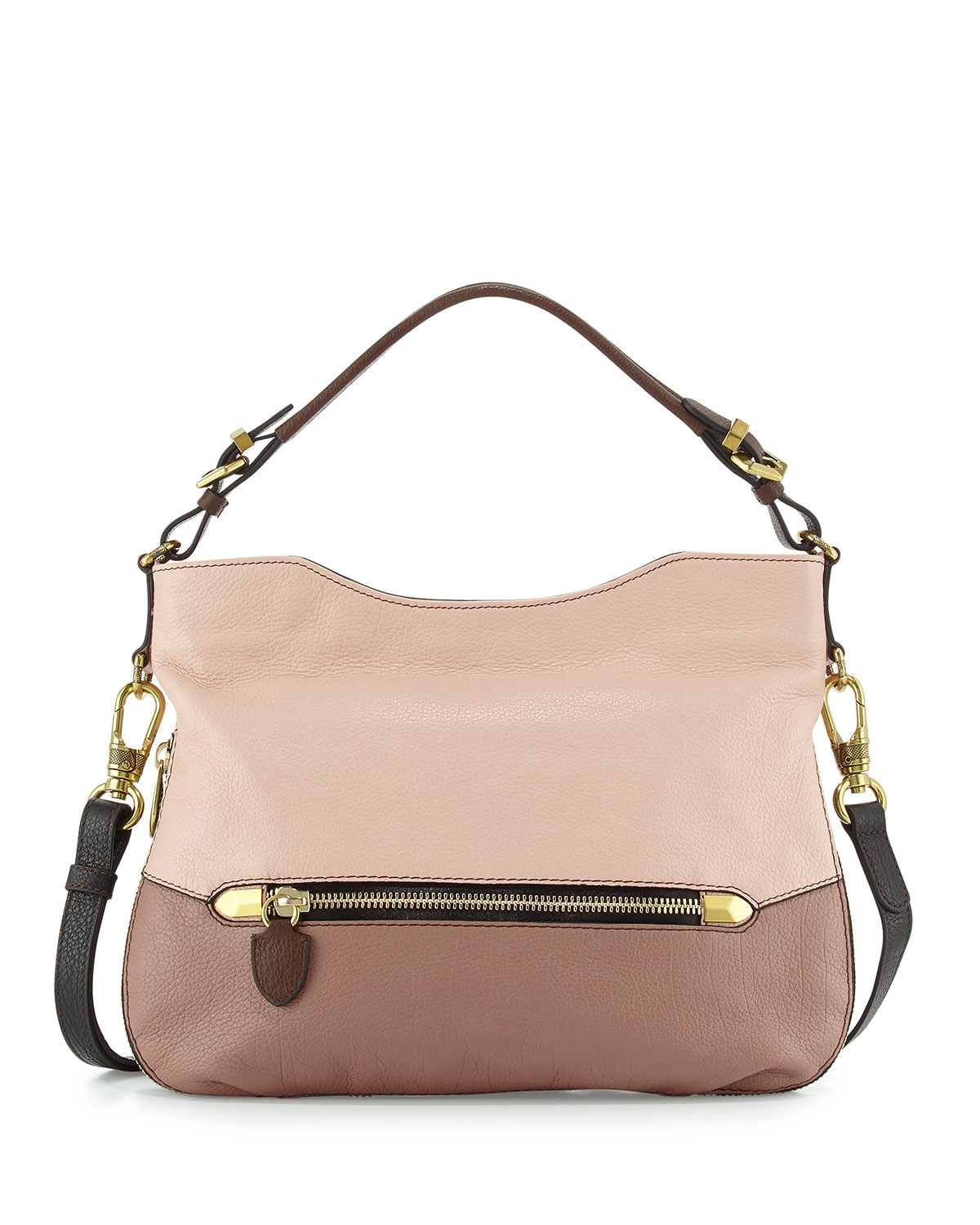 Oryany Ellie Leather Hobo Bag in Pink | Lyst