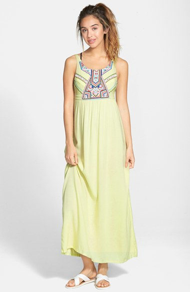 Rip curl 'nomadic' Maxi Dress in Yellow | Lyst