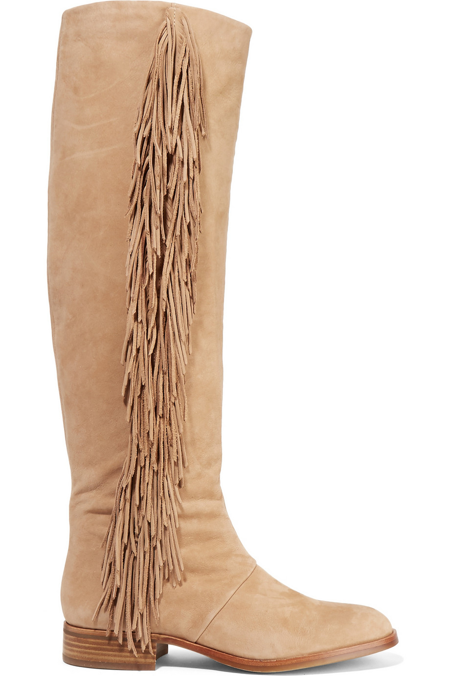 a4efb549c1012 Sam Edelman Josephine Fringed Suede Boots in Natural - Lyst
