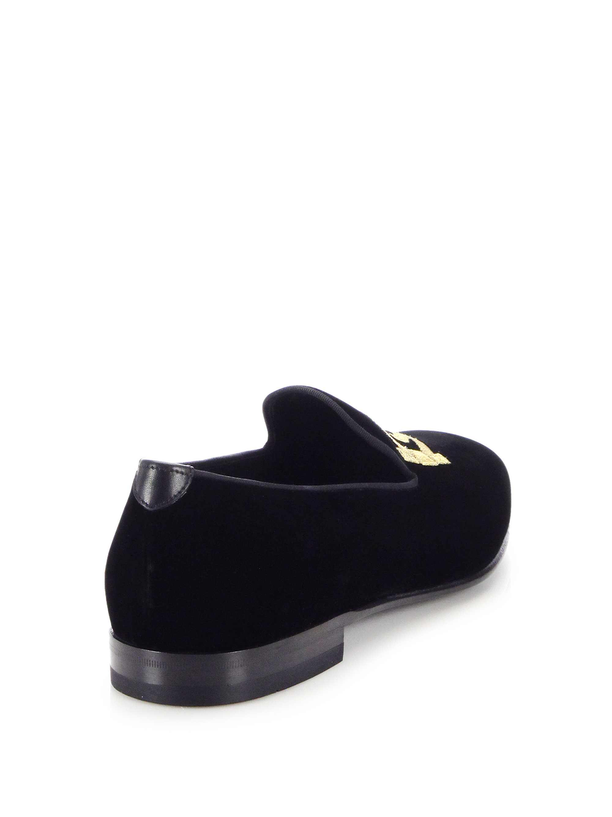 365995553d6 Lyst - Ferragamo Double Gancini Velvet Smoking Slippers in Black for Men