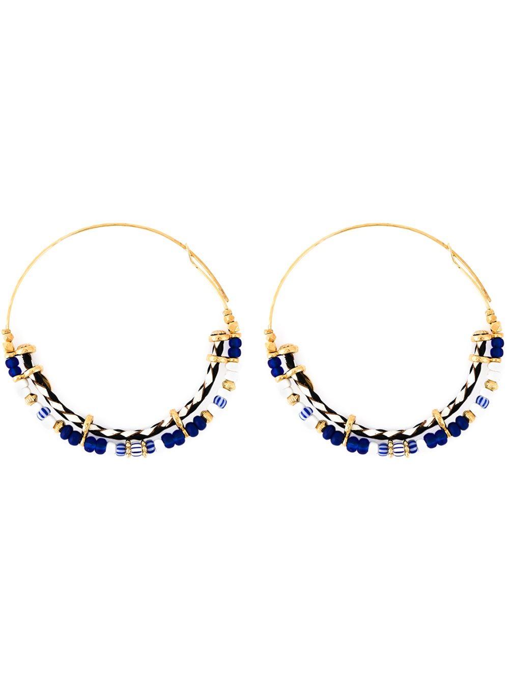 Gas Bijoux Comedia Beaded Hoop Earrings dBHasBPg5T