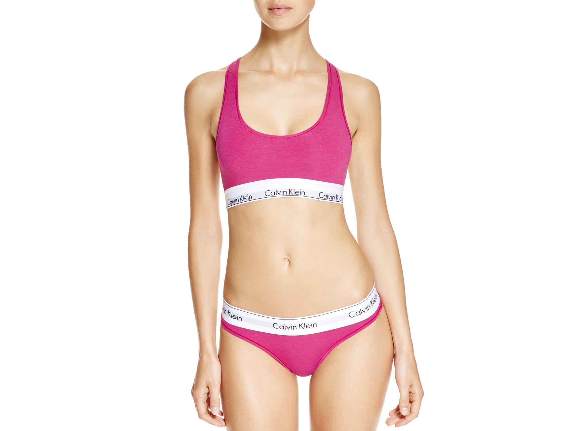 83c3f0561c3bc5 Calvin Klein Bralette - Modern Cotton  f3785 in Pink - Lyst