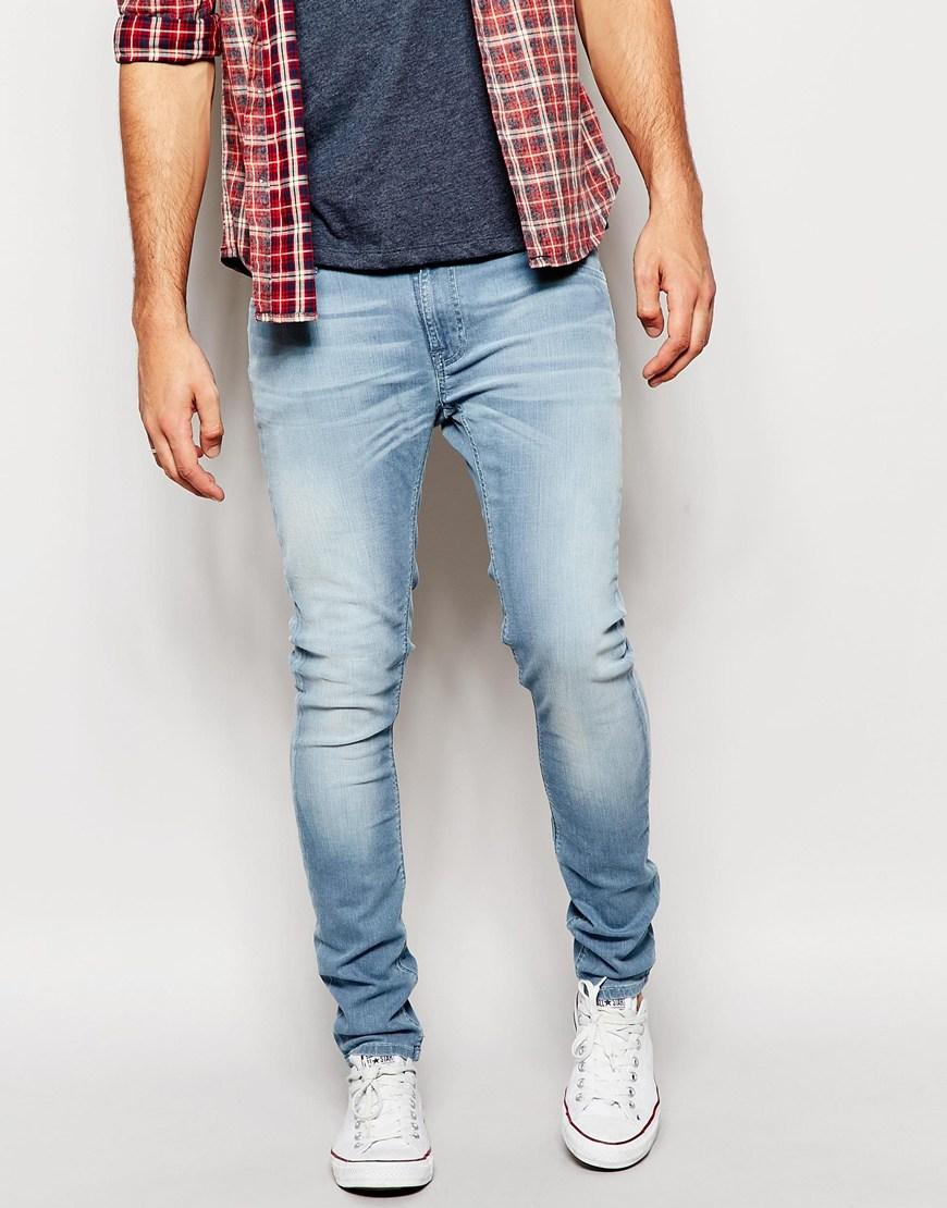 Lyst Nudie Jeans Skinny Lin Super Skinny Fit Pale River
