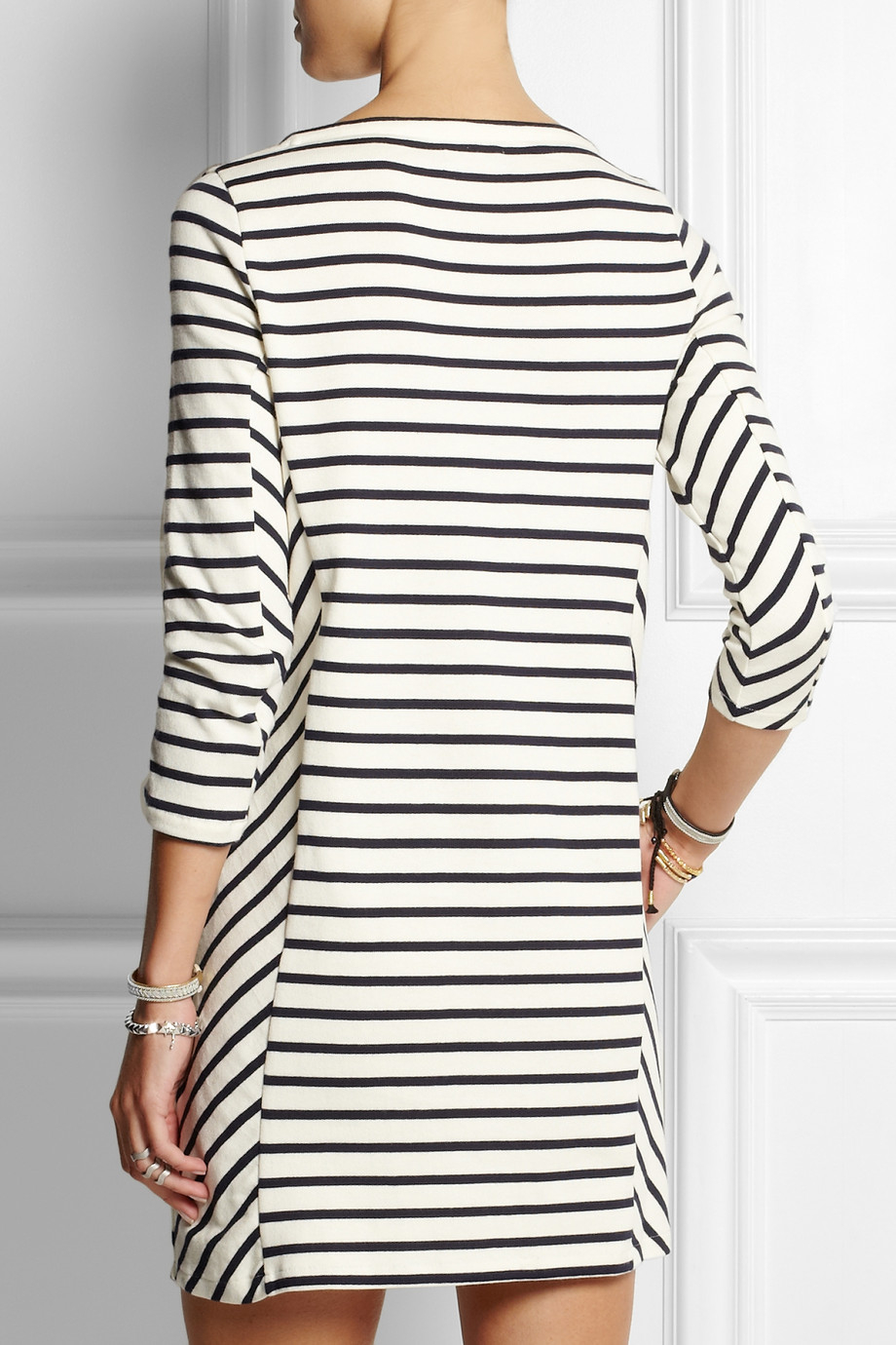 Blue striped cotton dress