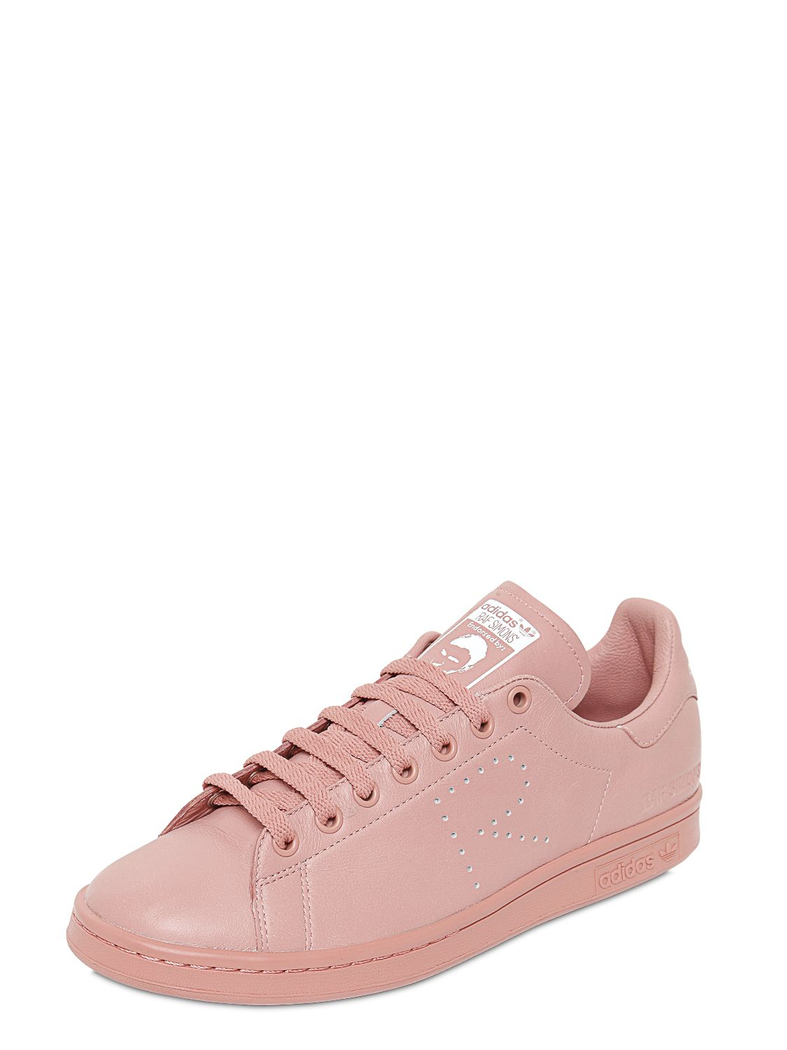 adidas by raf simons stan smith leather sneakers in pink. Black Bedroom Furniture Sets. Home Design Ideas