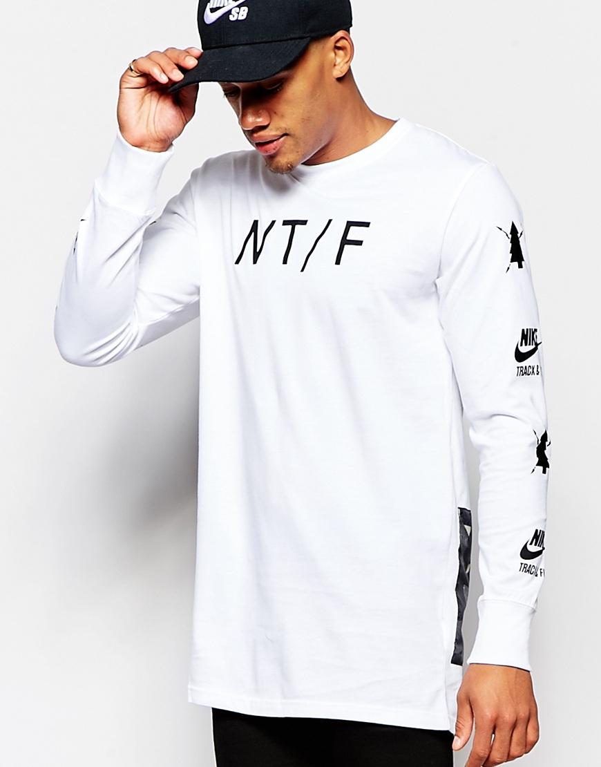 Nike Air Pivot V3 Long Sleeve White Tee In White For Men