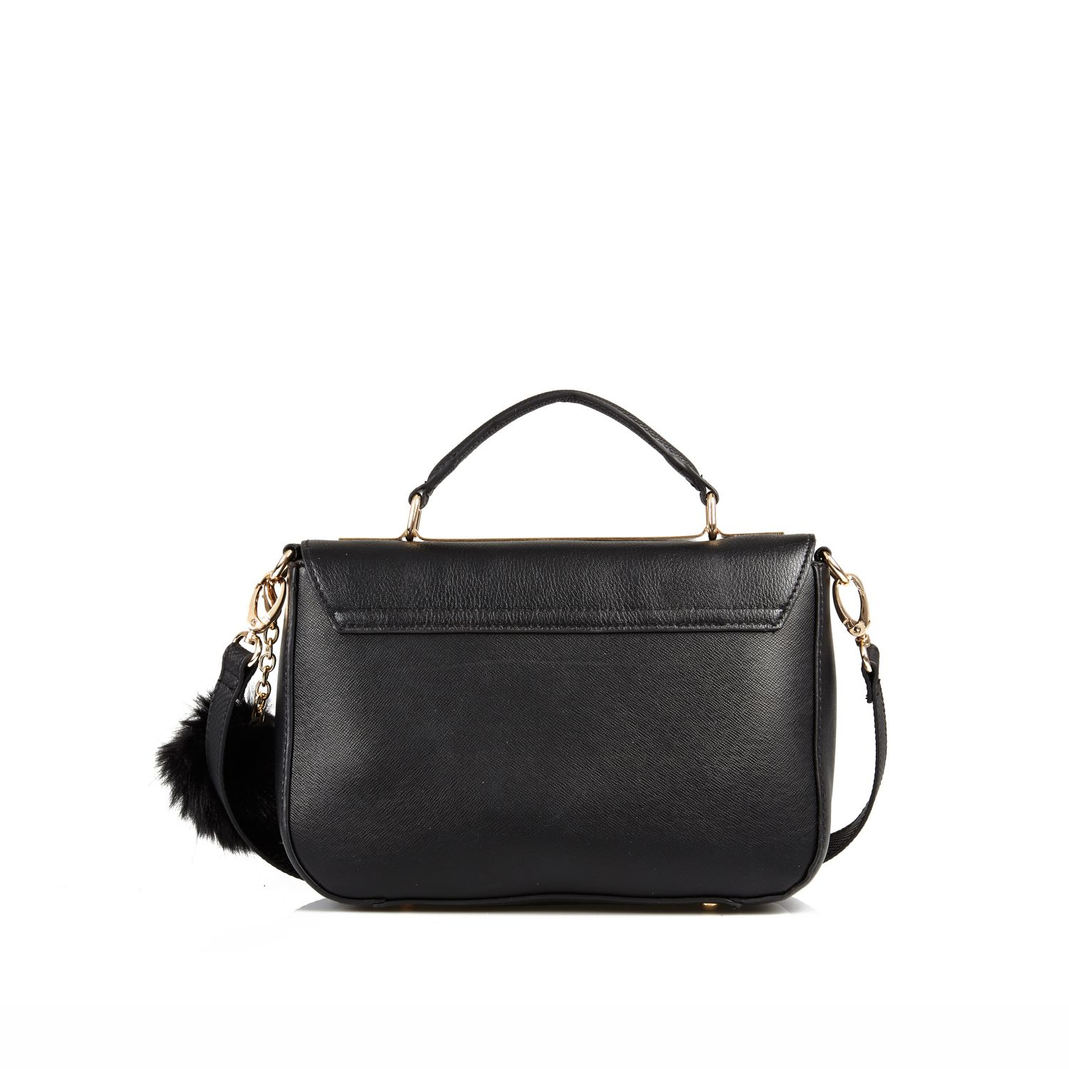 Black Mini Satchel River Island
