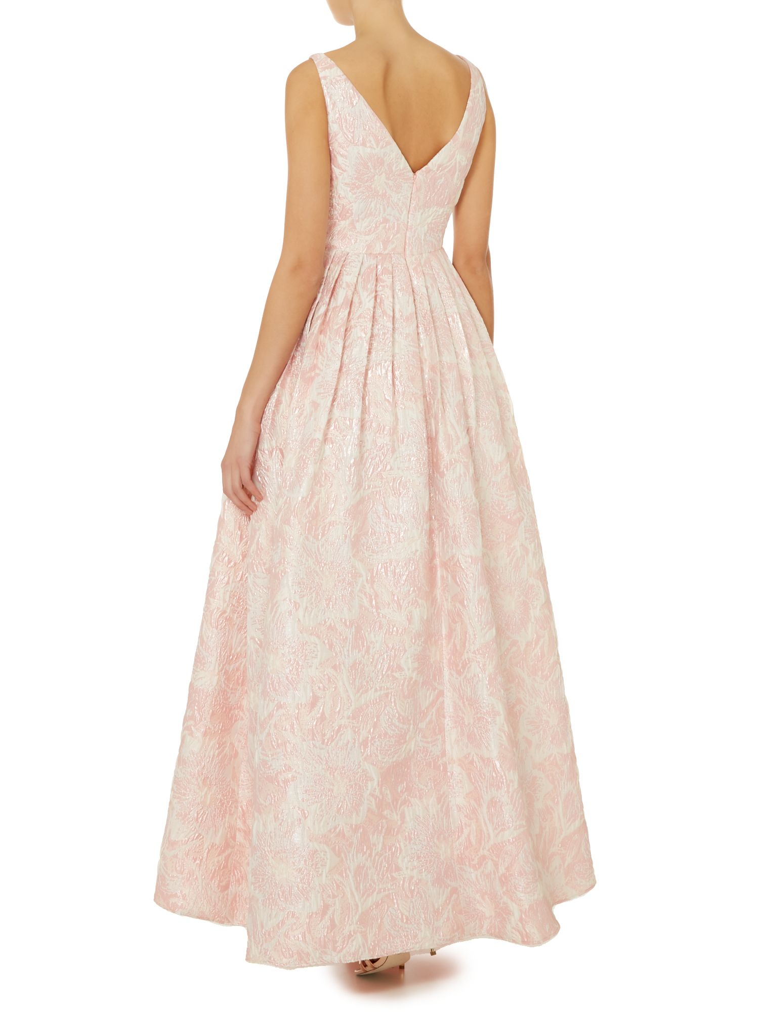 Lyst Adrianna Papell Floral Fit And Flare Jacquard Maxi