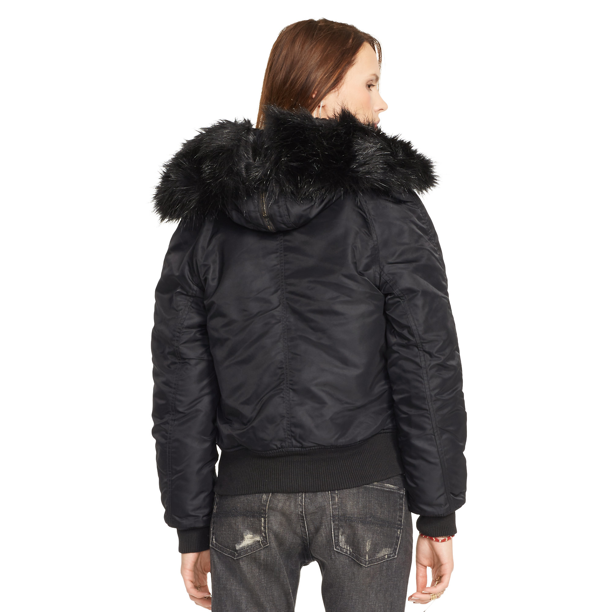Hooded Bomber Jacket Womens Photo Album - Reikian