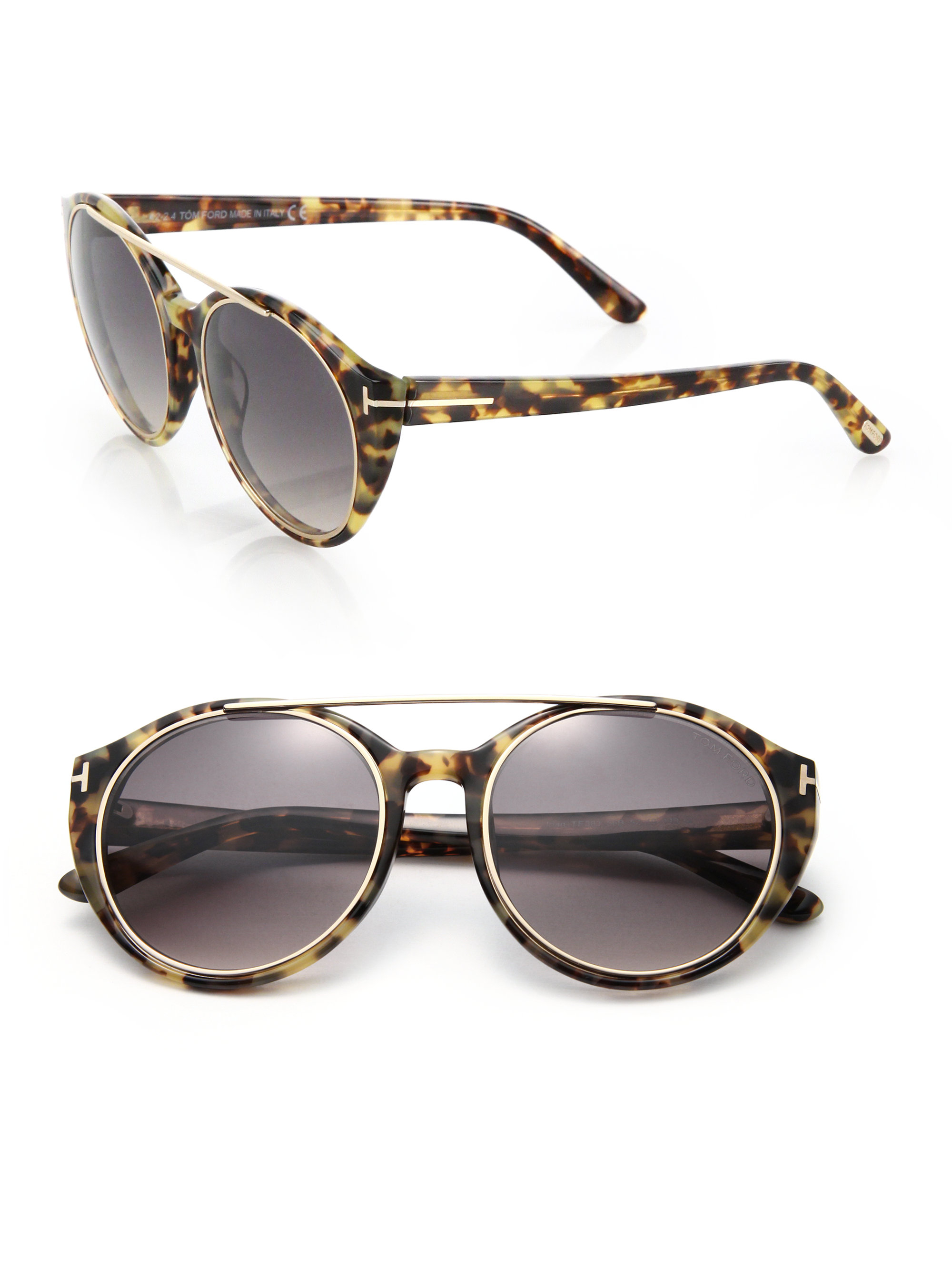 tom ford joan 52mm cat 39 s eye sunglasses lyst. Black Bedroom Furniture Sets. Home Design Ideas