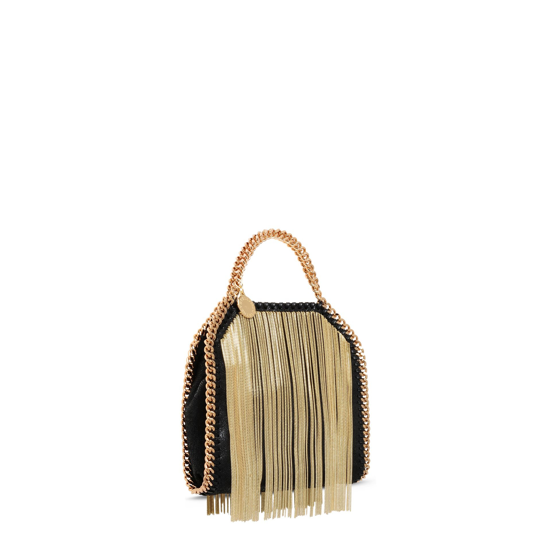 65d627d69cb9 Stella McCartney Falabella Chain Fringed Tiny Tote in Metallic - Lyst