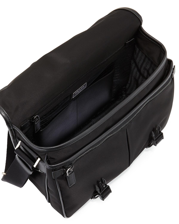 ... promo code for low price lyst prada mens large nylon messenger bag in  black for men ... e1867541db4c2