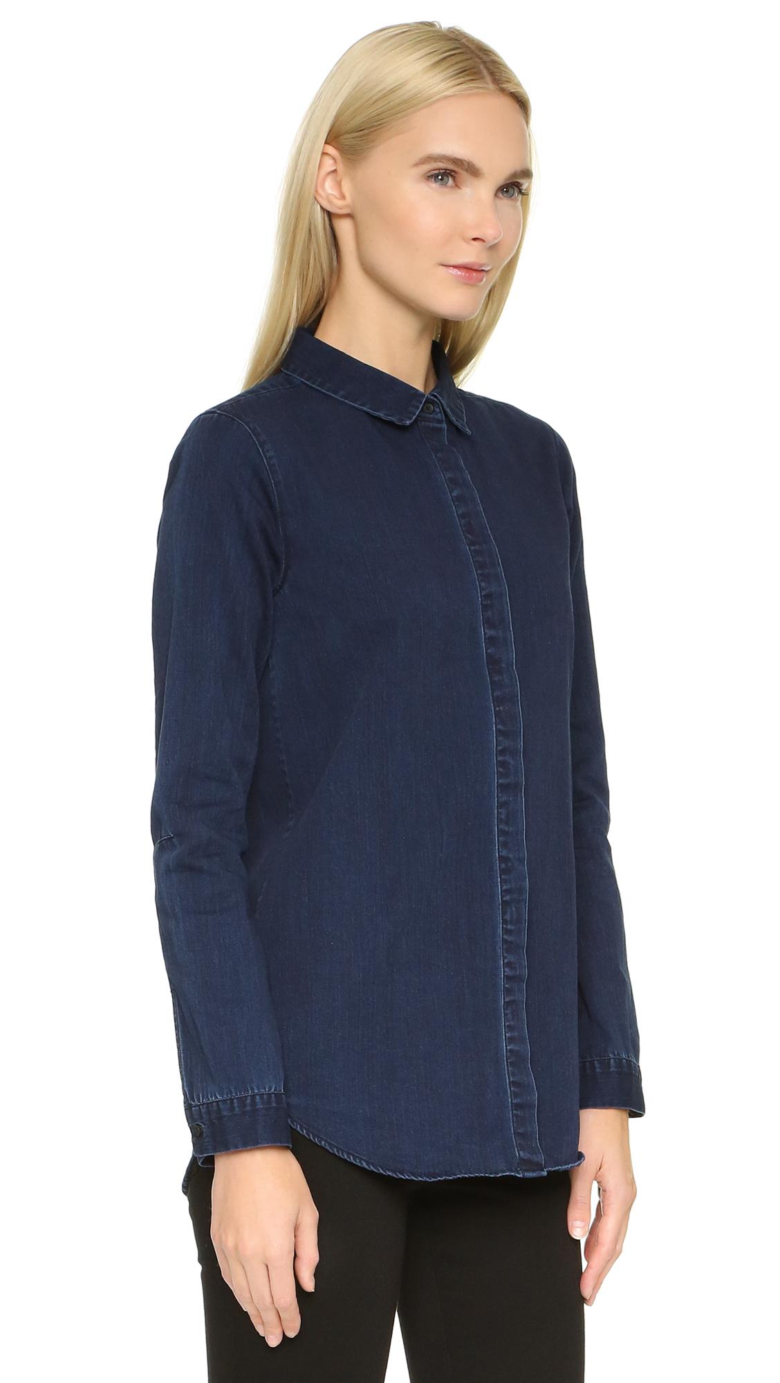 Ayr The Clean Button Down Shirt In Blue Lyst