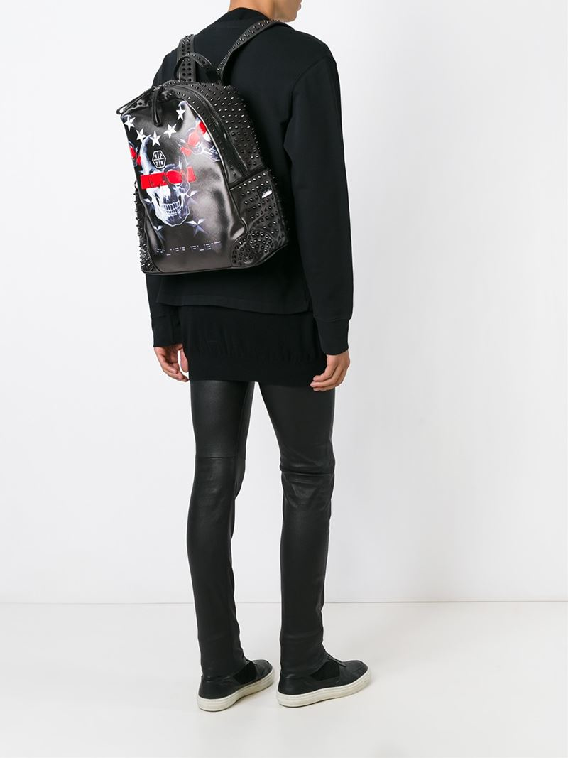 cd994a8f97c Philipp Plein 'second City' Backpack in Black for Men - Lyst