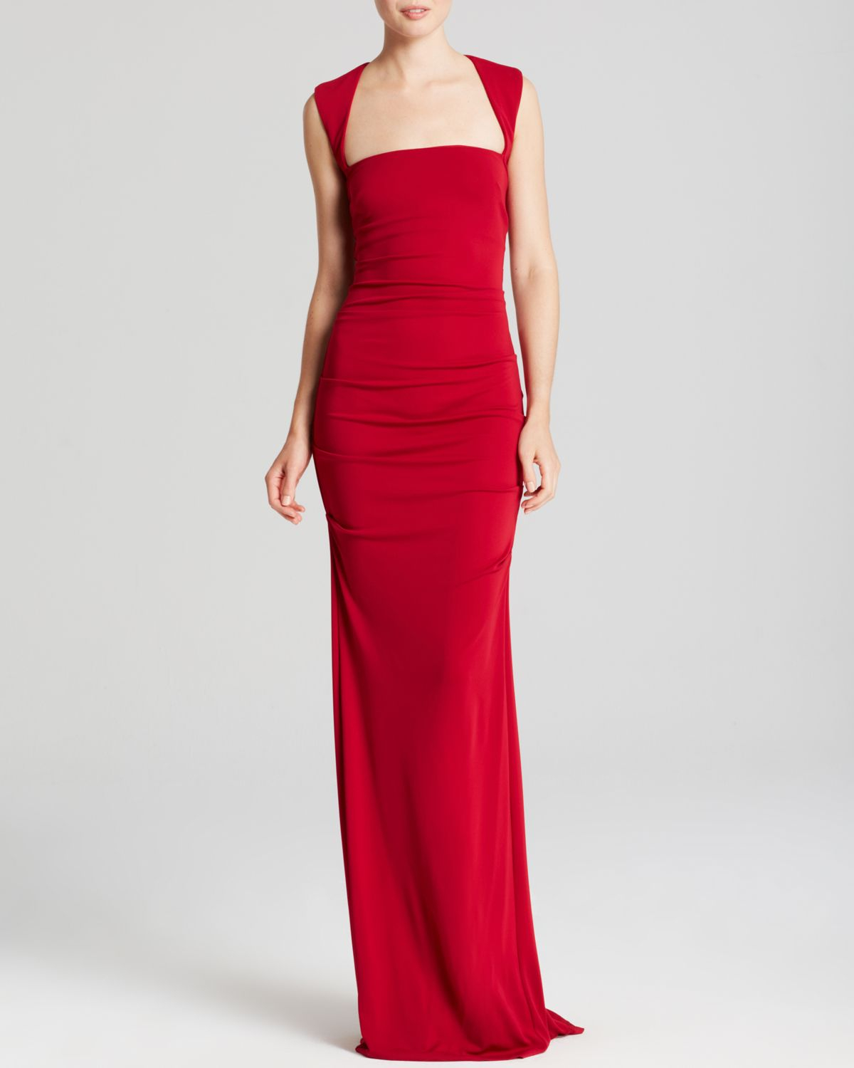 Lyst - Nicole Miller Gown - Sleeveless Stretch in Red
