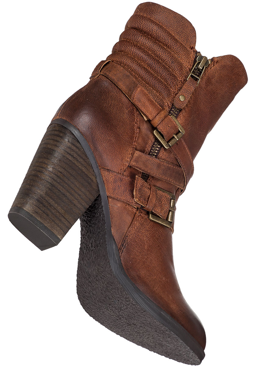 steve madden raleighh mid shaft boot cognac leather in