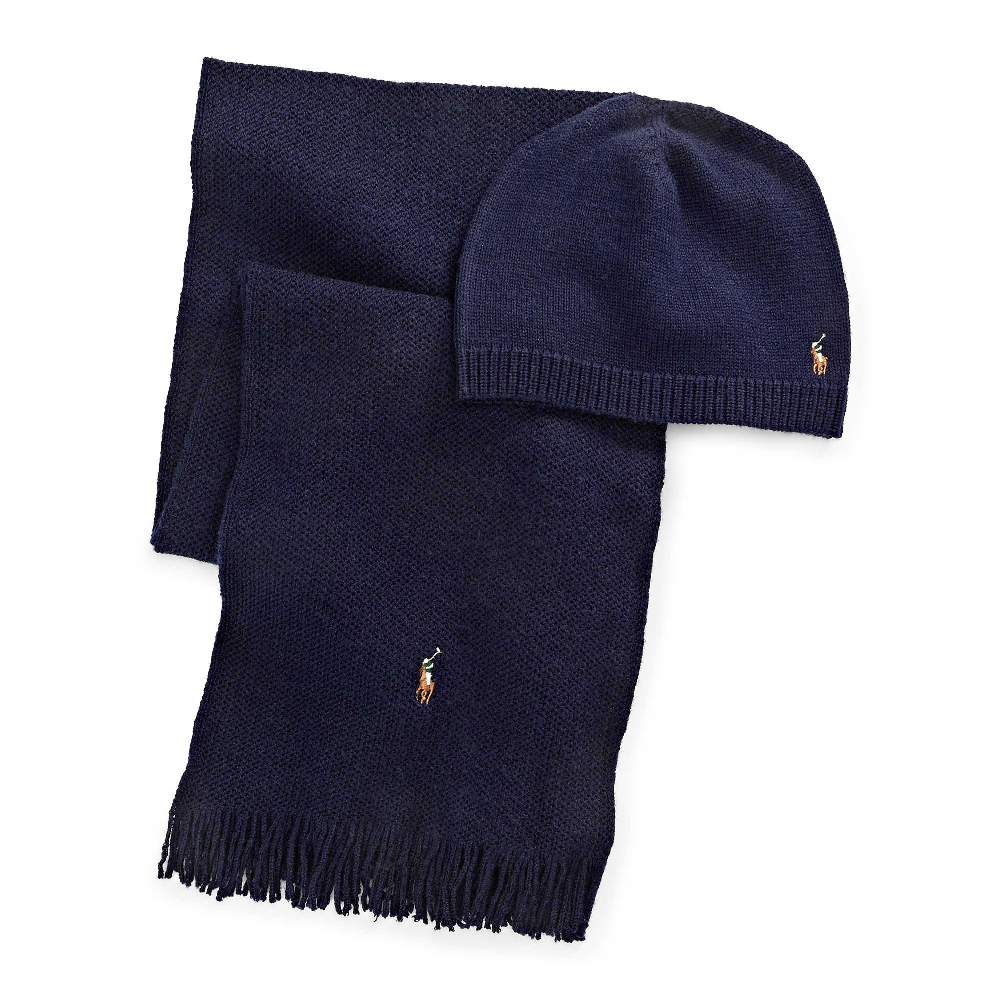 181580c4eb715 ... beanie 02d3f edbd1 coupon code for polo ralph lauren wool hat scarf  gift set in blue for men lyst ...