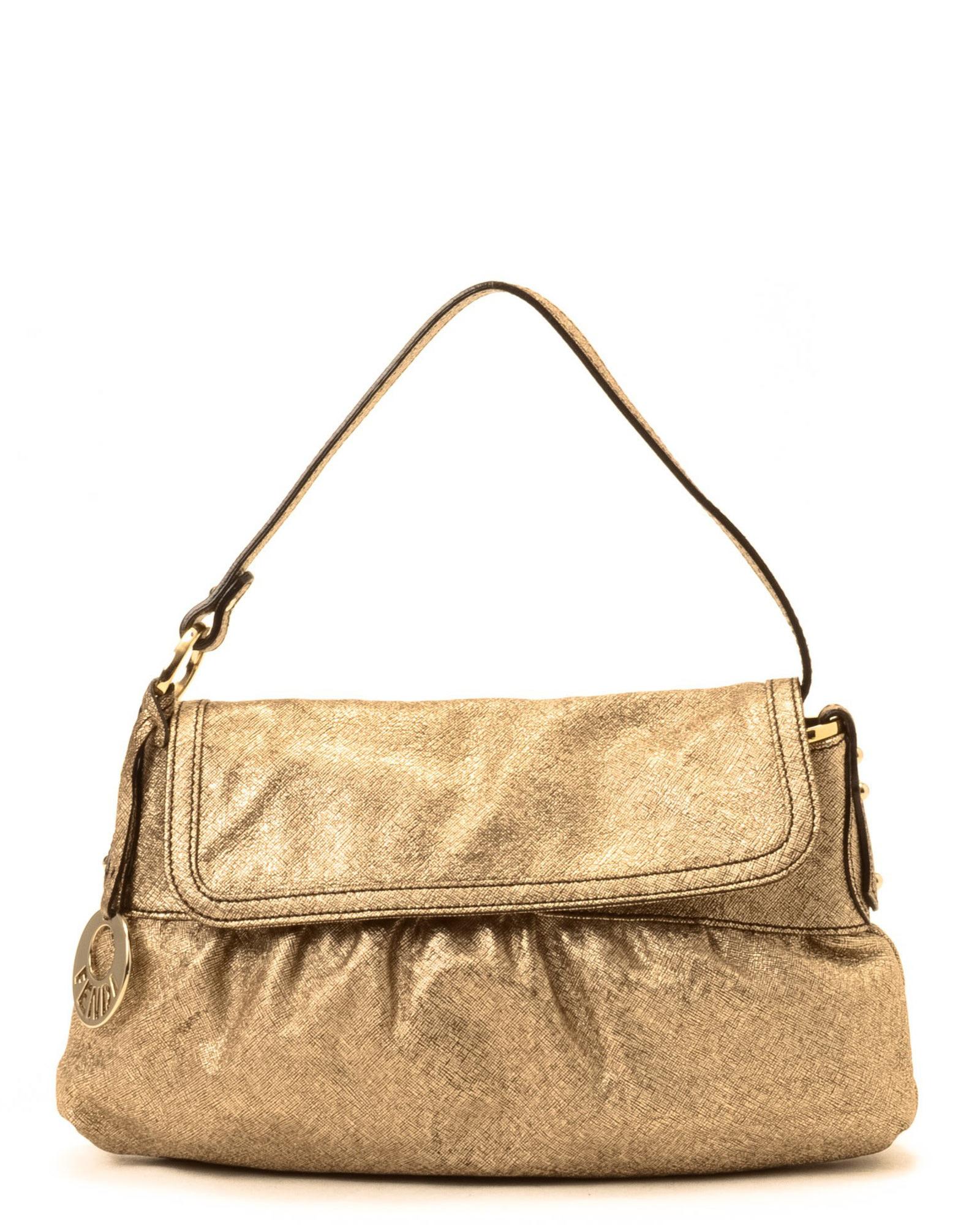 ac8fc5b02aaa ... denmark lyst fendi gold shoulder bag vintage in metallic 998ab 690a1