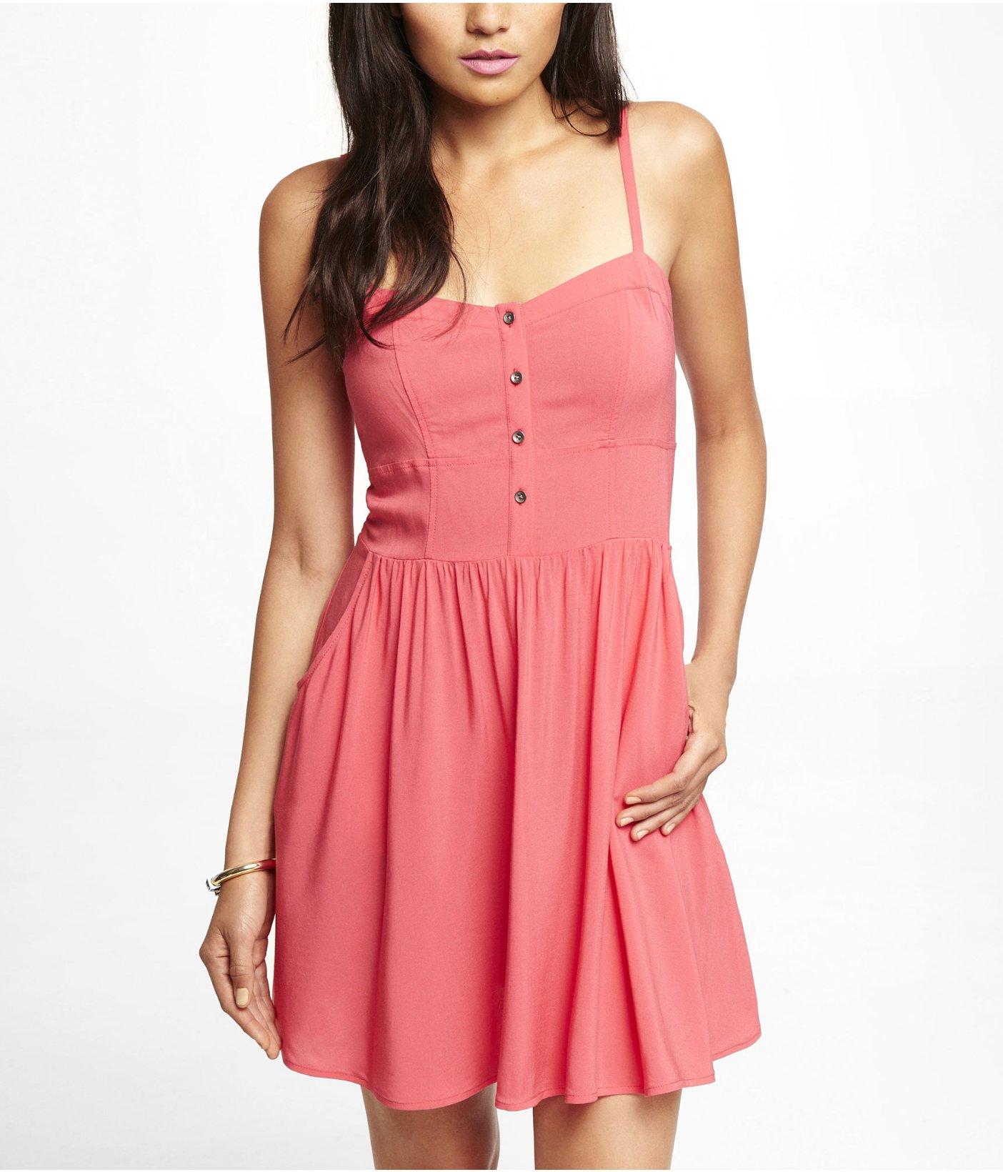 Express Pink Cami Sundress in Pink | Lyst