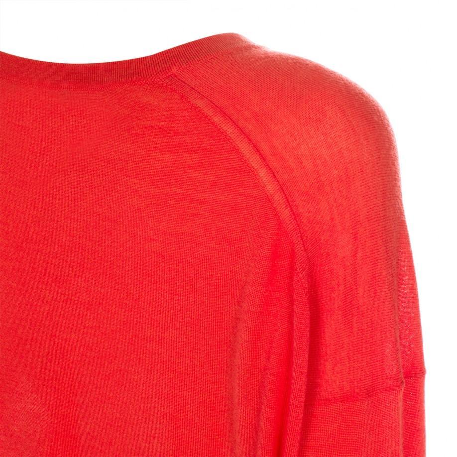 Paul smith Women's Oversized Coral Merino Wool Sweater in Pink | Lyst