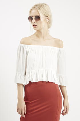 Topshop Womens Crinkle Embroidered Top - Sale Websites New Styles For Sale Buy Cheap Perfect Discounts Cheap Online Best Wholesale Online UQWuUDd6H