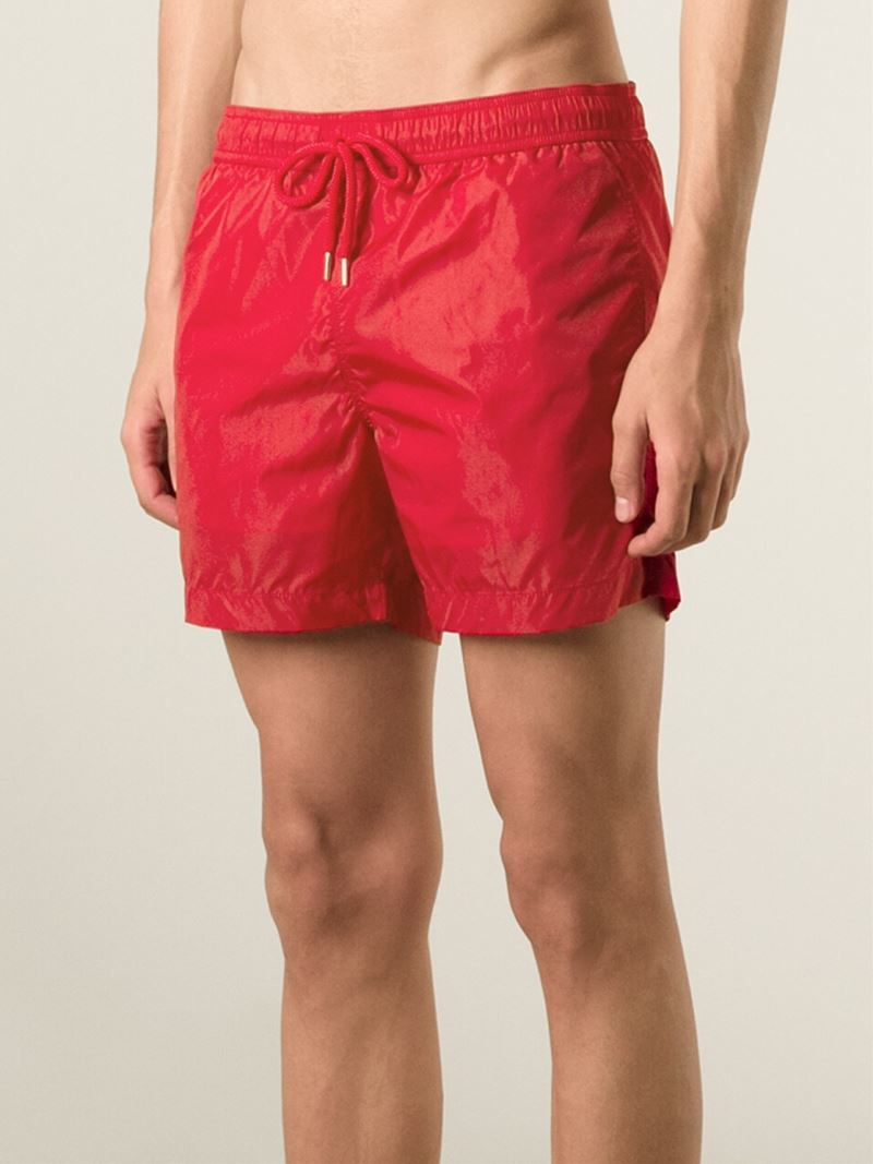 611975365d Moncler Classic Swimming Shorts in Red for Men - Lyst