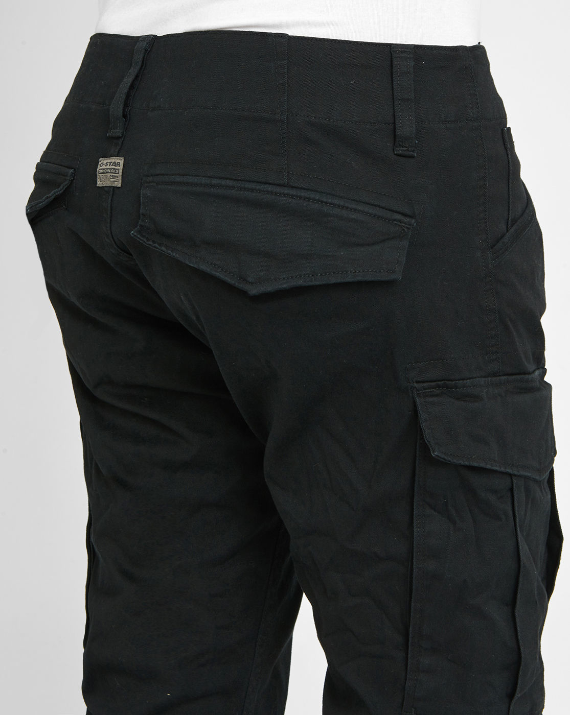 G-star raw Black Rovic Pr Stretch Slim-fit Cargo Pants in Black ...