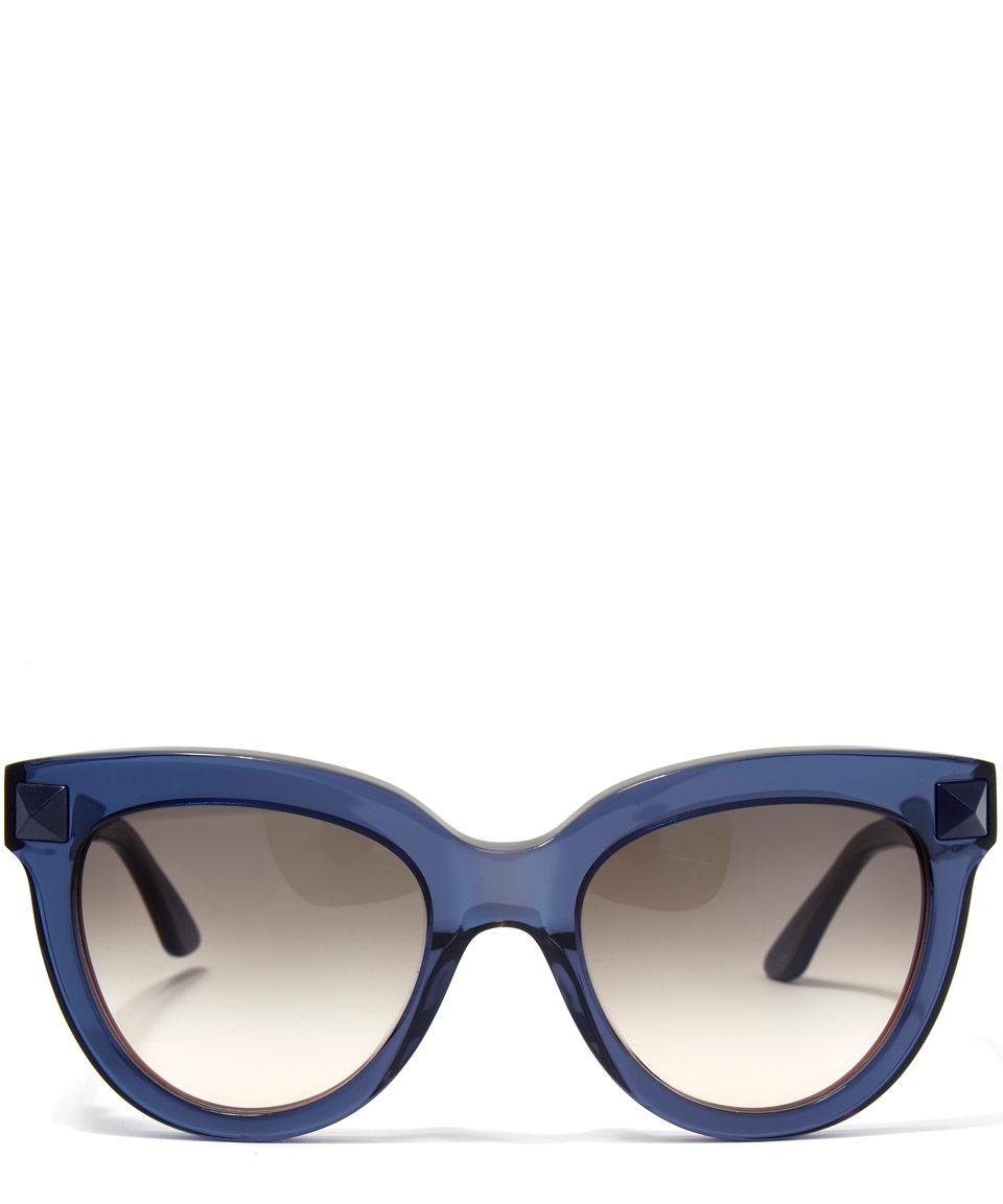 d789b70c7ec5 Valentino Blue Cat Eye Stud Sunglasses in Blue - Lyst
