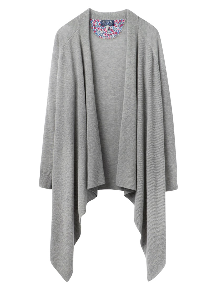 Joules Eriesta Longline Waterfall Cardigan in Gray | Lyst