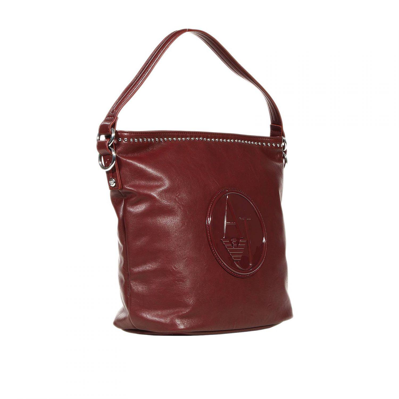 Lyst Armani Jeans Handbag Hobo Ecoleather Logo Patent In