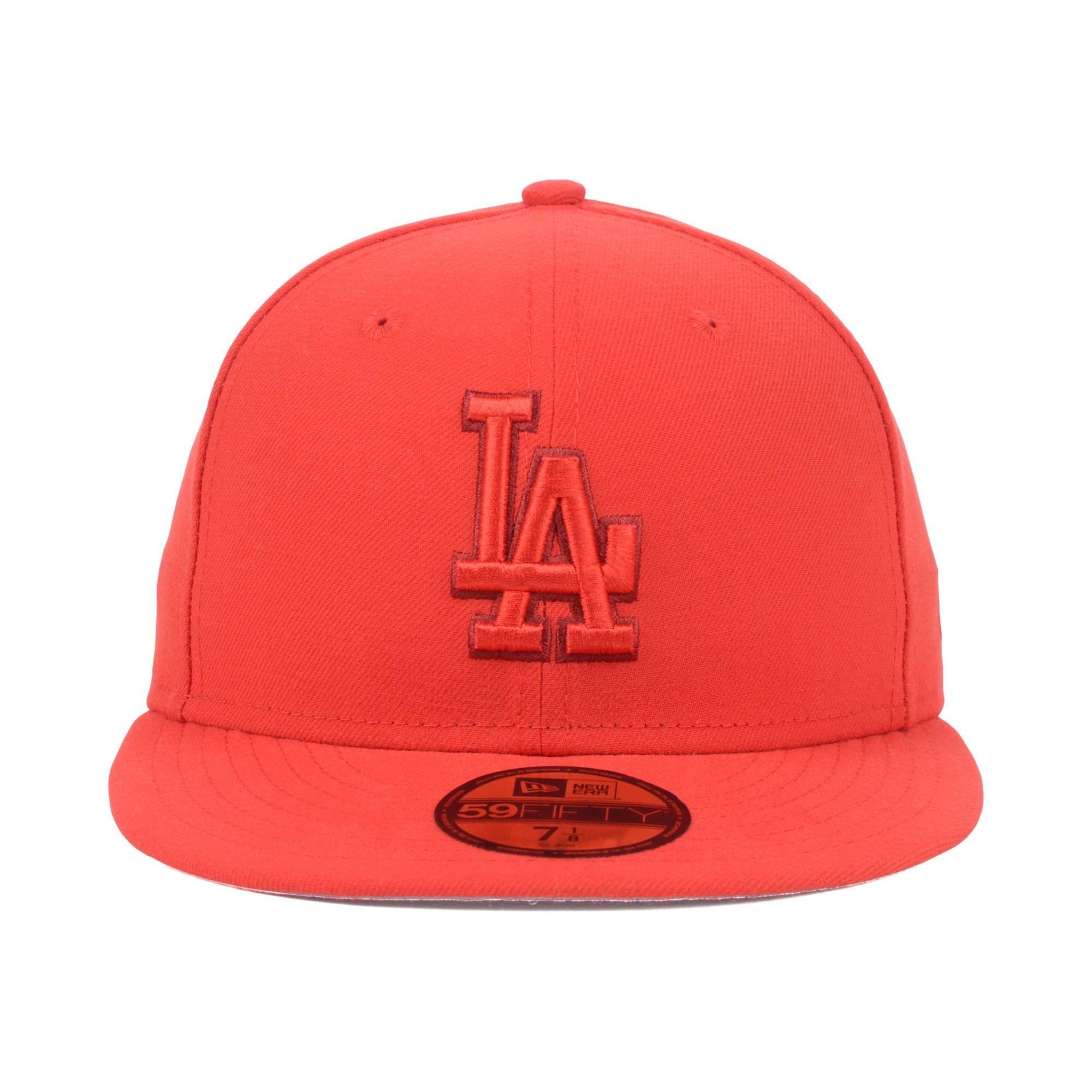 best service 7be9f c777c ... 50% off lyst ktz los angeles dodgers mlb pop tonal 59fifty cap in red  for