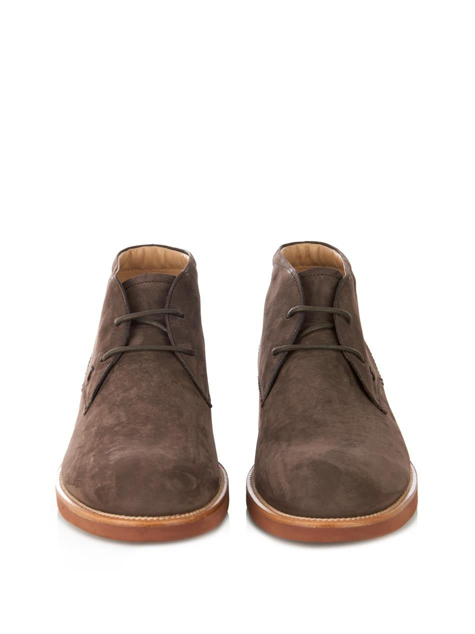 tod s suede desert boots in brown for lyst