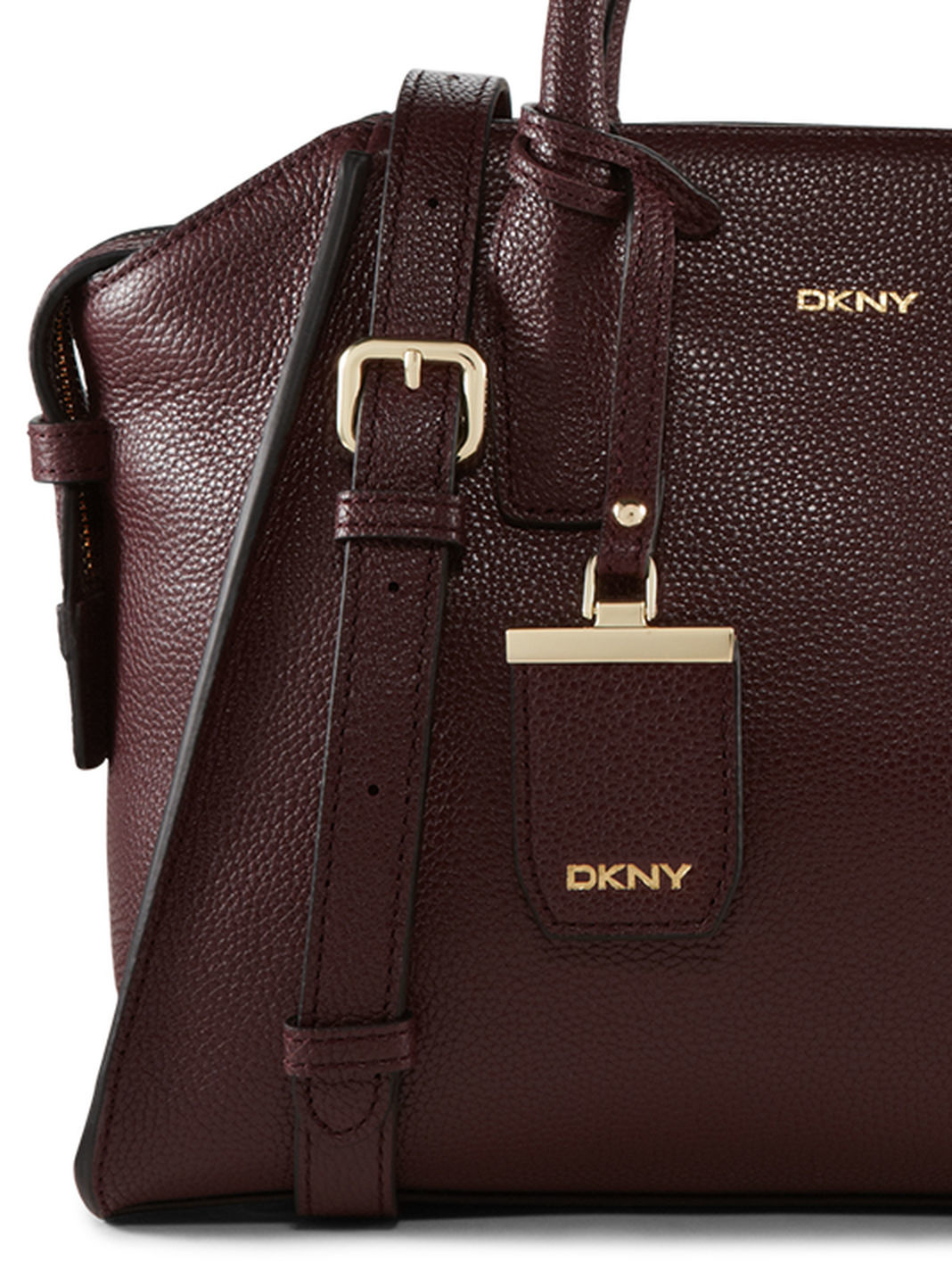 78e262a97fc3 Lyst - DKNY Fine Pebble Leather Satchel in Red