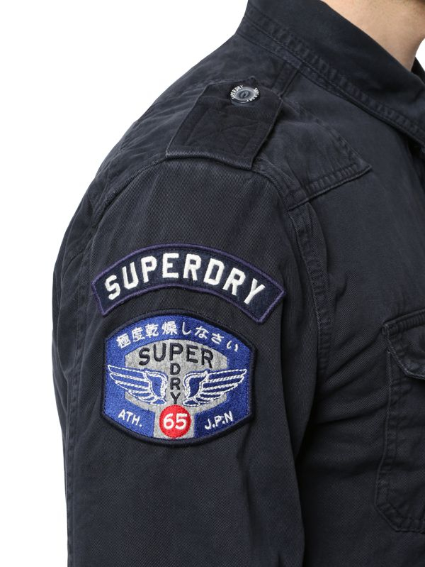 e270aaf62ff Lyst - Superdry Denim Military Shirt in Blue for Men
