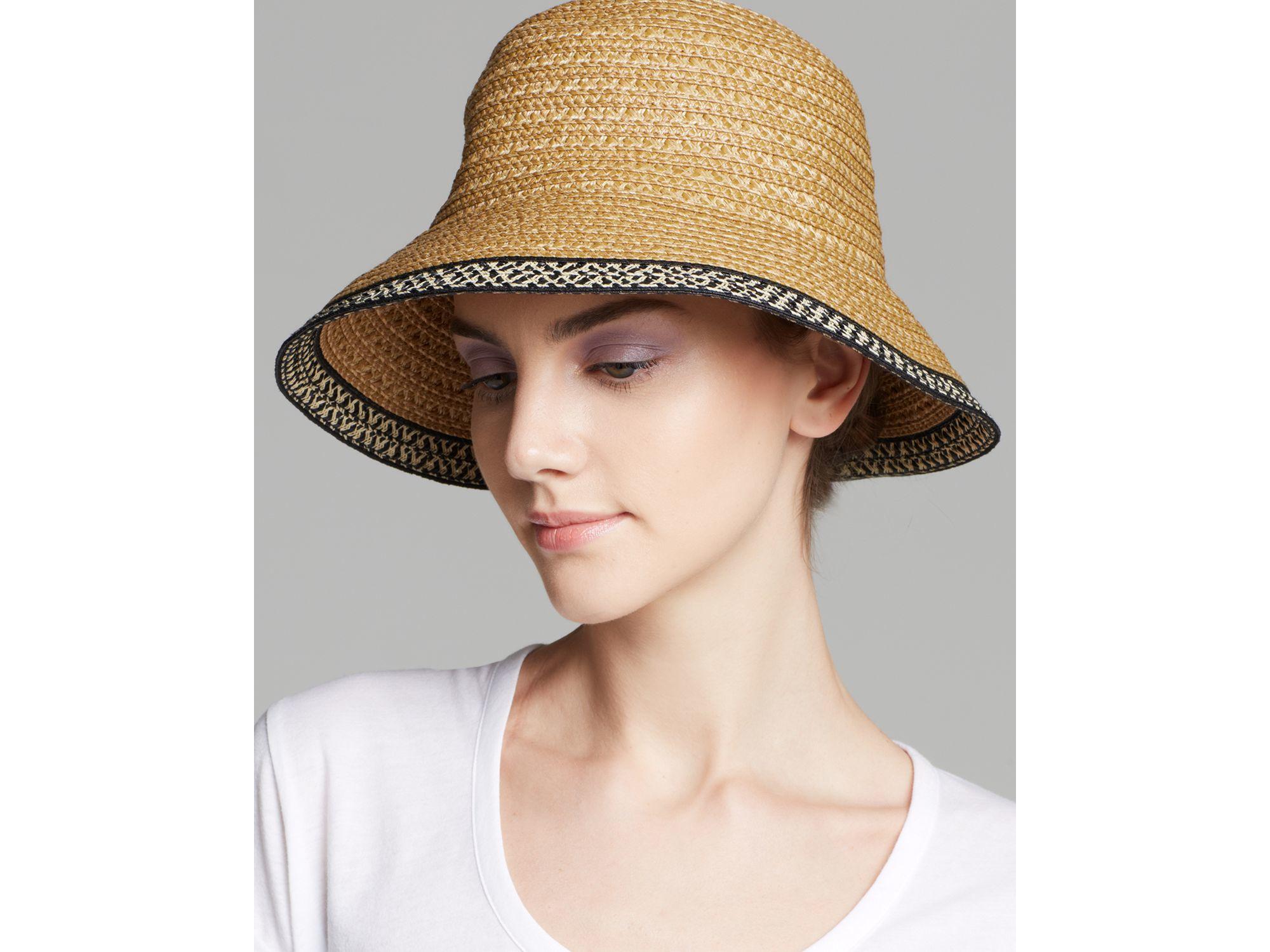ce91dcc64f09d Eric Javits Becca Short Brim Sun Hat in Natural - Lyst