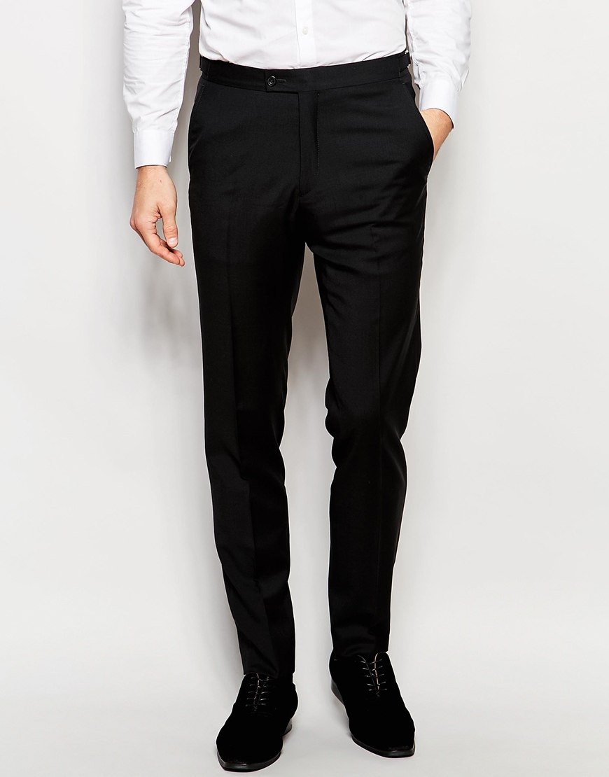 Hart Hollywood By Nick Hart 100% Wool Suit Pants In Slim ...