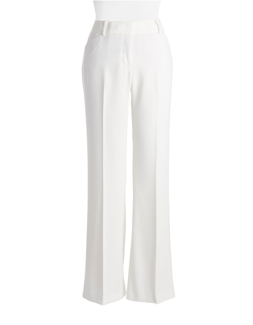 Lyst Ivanka Trump Wide Leg Dress Pants In White