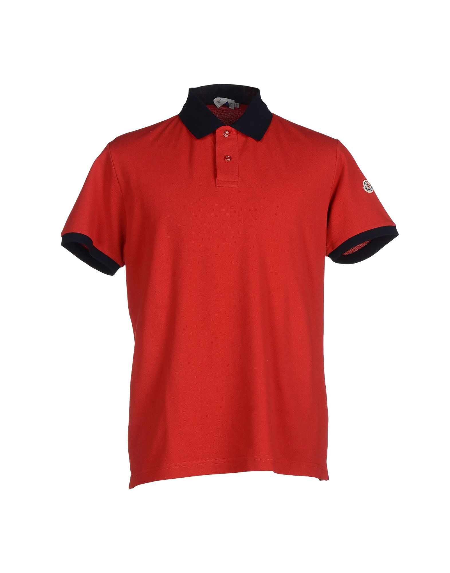 mens red moncler t shirt