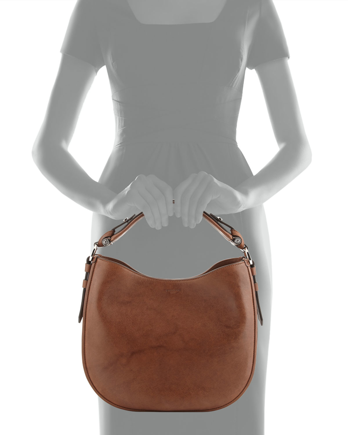 1ceb34db70e Lyst - Givenchy Obsedia Small Leather Hobo Bag in Brown