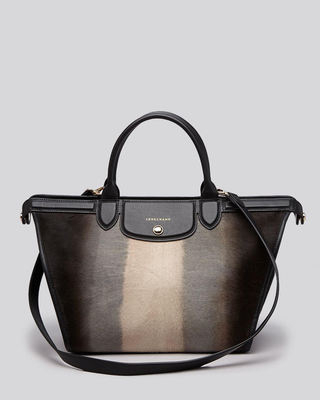 38c540a107b Lyst - Longchamp Satchel - Le Pliage Heritage Luxe Large in Black