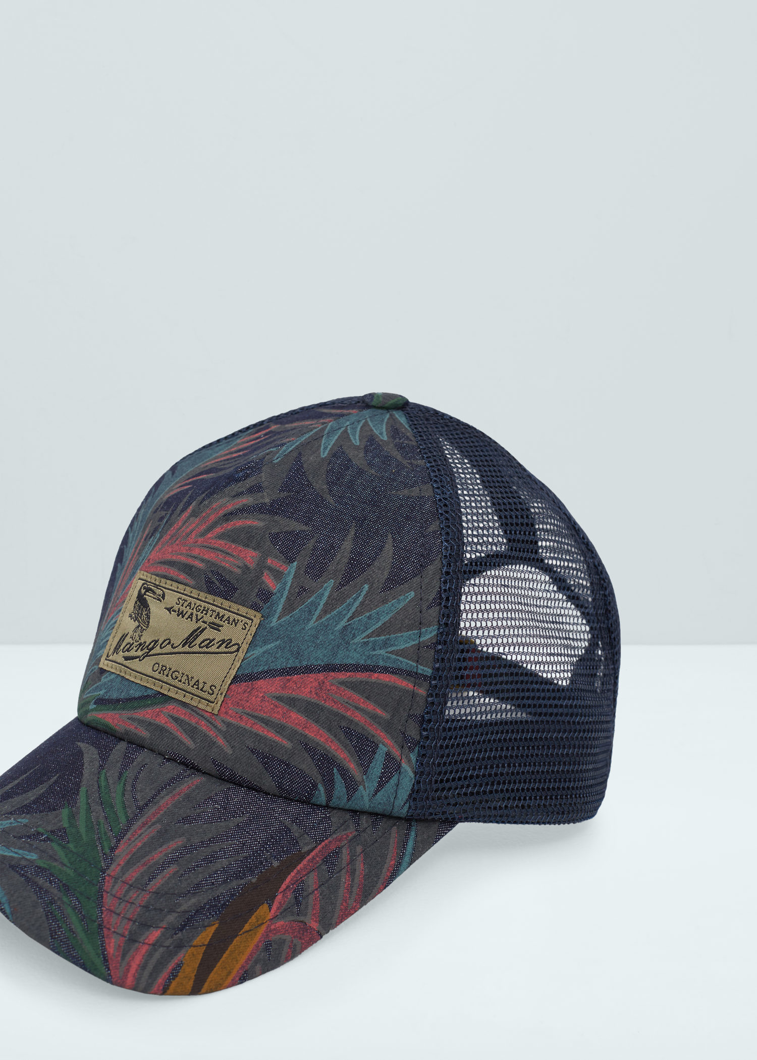 Lyst - Mango Tropical Print Cap in Black for Men 67d63d9e4ef