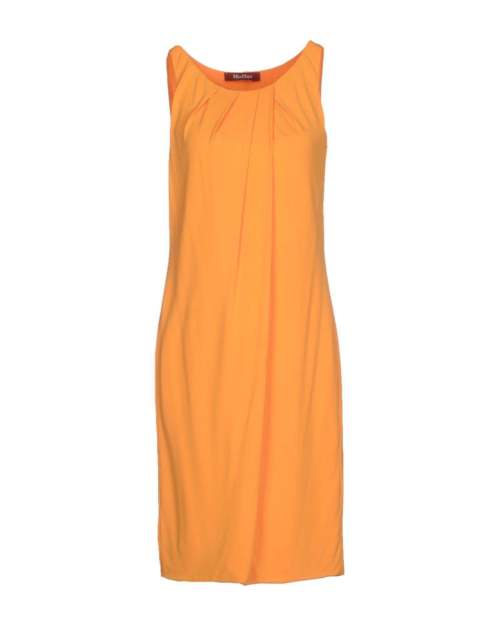 max mara studio short dress in orange lyst. Black Bedroom Furniture Sets. Home Design Ideas