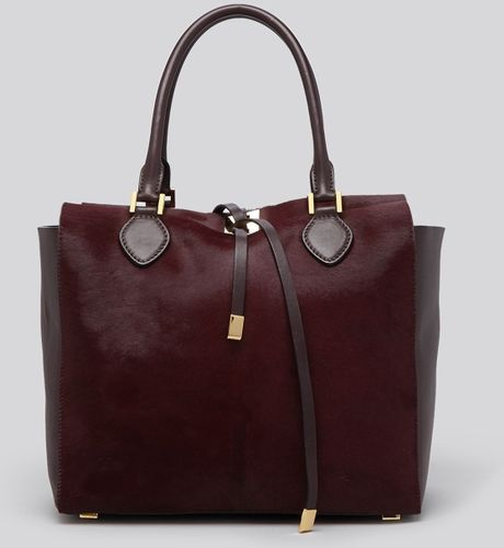 michael kors tote miranda large haircalf in purple. Black Bedroom Furniture Sets. Home Design Ideas
