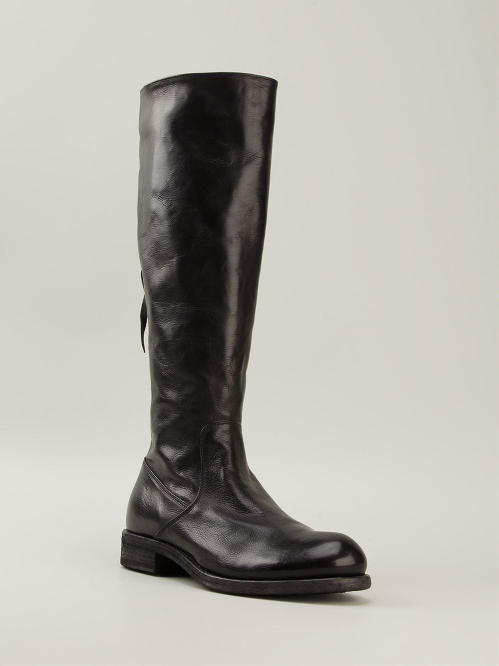 Pantanetti Mid Calf Length Boots In Black Lyst