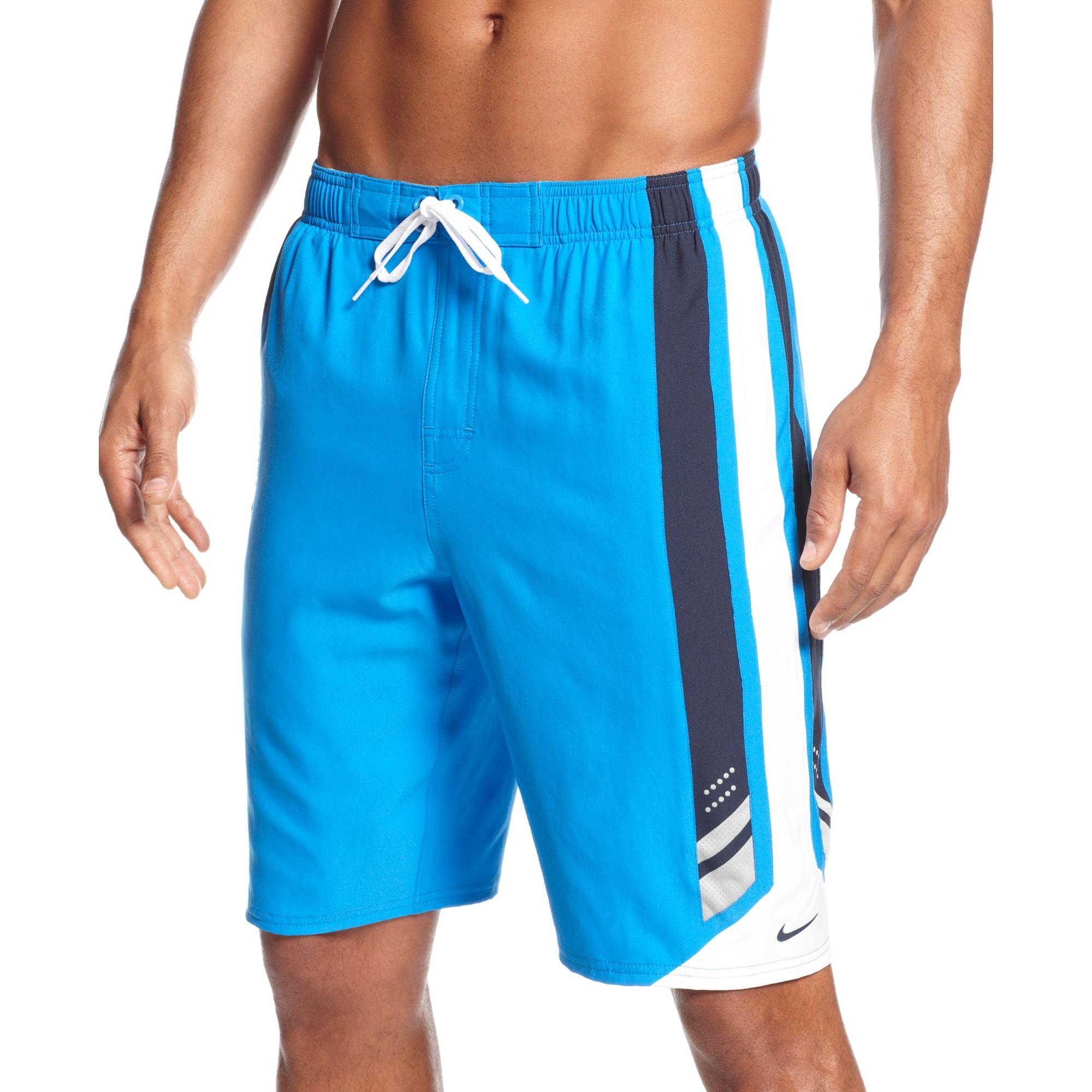 ee2e390f77 Nike Transcend 11 Volley Dri Fit Swim Shorts in Blue for Men - Lyst