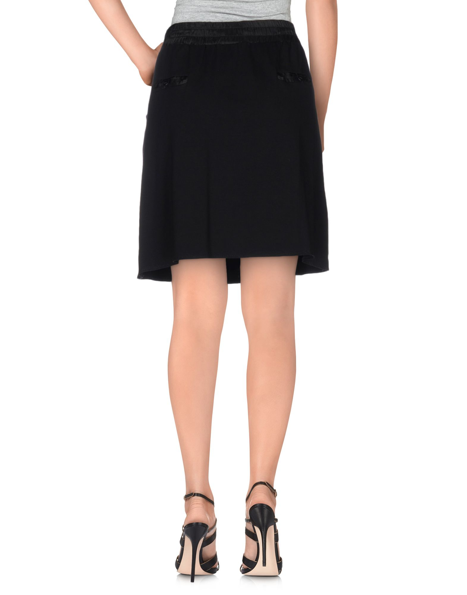 scee by set knee length skirt in black lyst