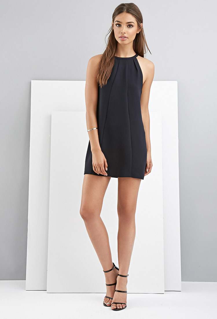 Lyst Forever 21 Foxiedox Halter Shift Dress In Blue