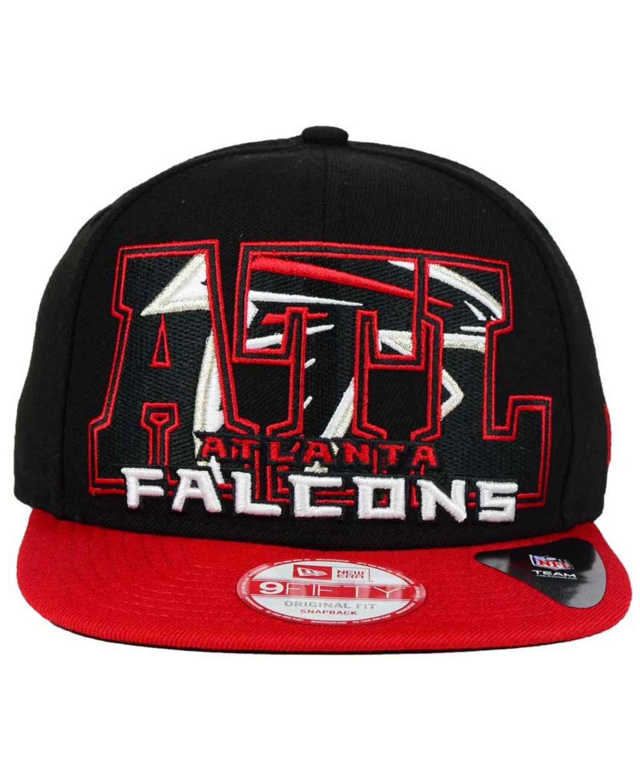 Lyst Ktz Atlanta Falcons Big City 9fifty Snapback Cap In Black For Men e3ebf4aaaa82