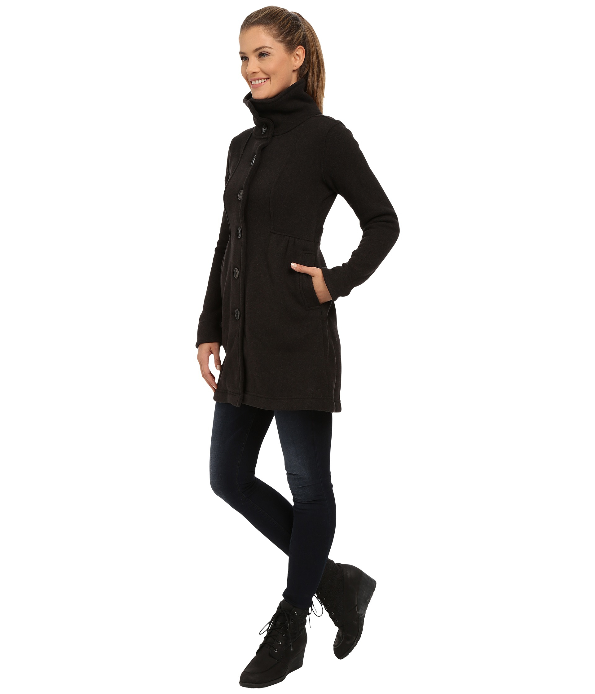 914dd9500a3 Lyst - Patagonia Better Sweater Coat in Black