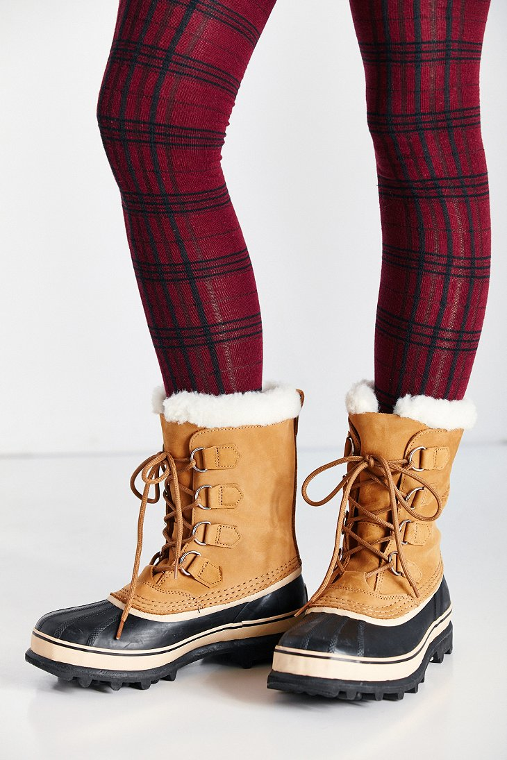 Sorel Caribou Sherpa Lined Boot In Brown Lyst